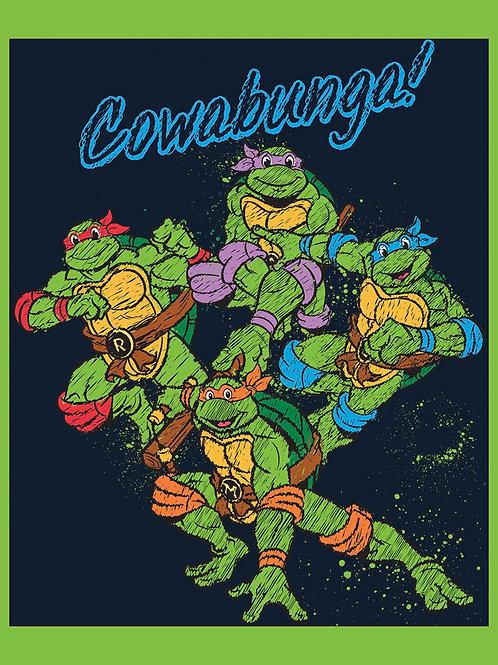 Teenage Mutant Ninja Turtles Cowabunga Fabric Panel