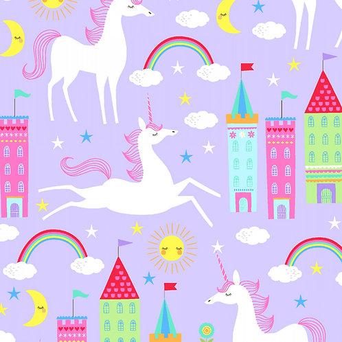 One of a Kind Unicorn and Rainbow Fabric