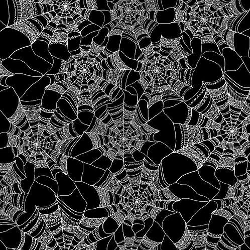 Black Spiderweb Fabric