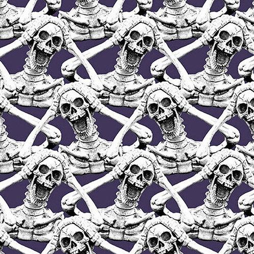 Hocus Pocus Screaming Skeleton Glow In The Dark Fabric