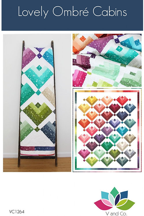 Lovely Ombre Cabins Quilt Pattern