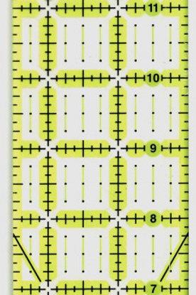 """Omnigrid Omnigrip 2.5"""" x 18"""" ruler"""