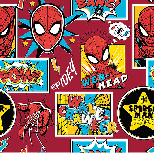 Spiderman Outside the Box Fabric