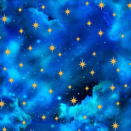 Starry Sky Fabric - Royal