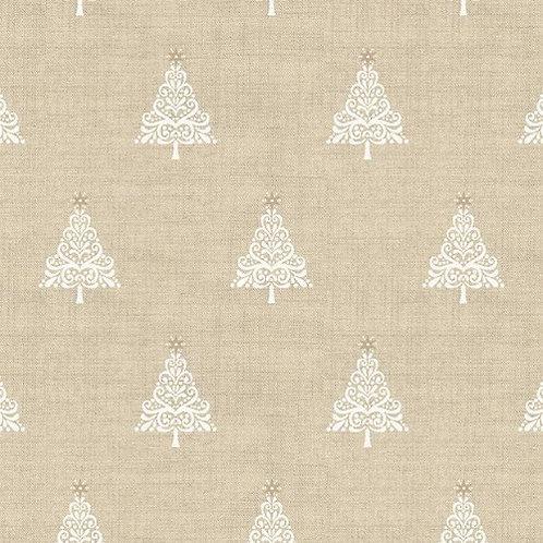 LP Cream Tree Makower Scandi Christmas Fabric