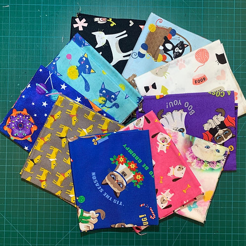 Cats and Dogs Fat Quarter Bundle x10 CD1