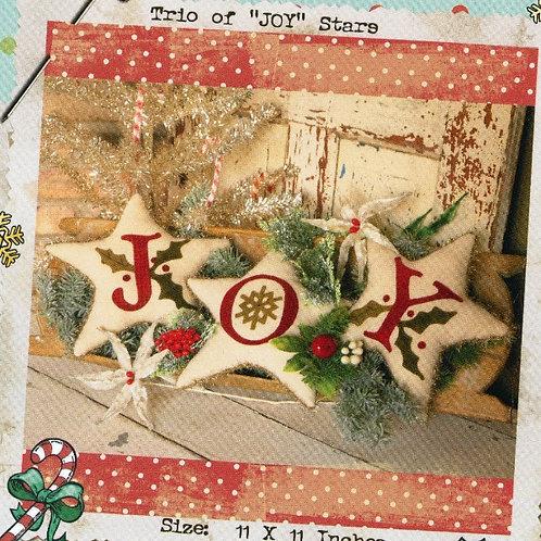 Trio of Joy Stars Pattern