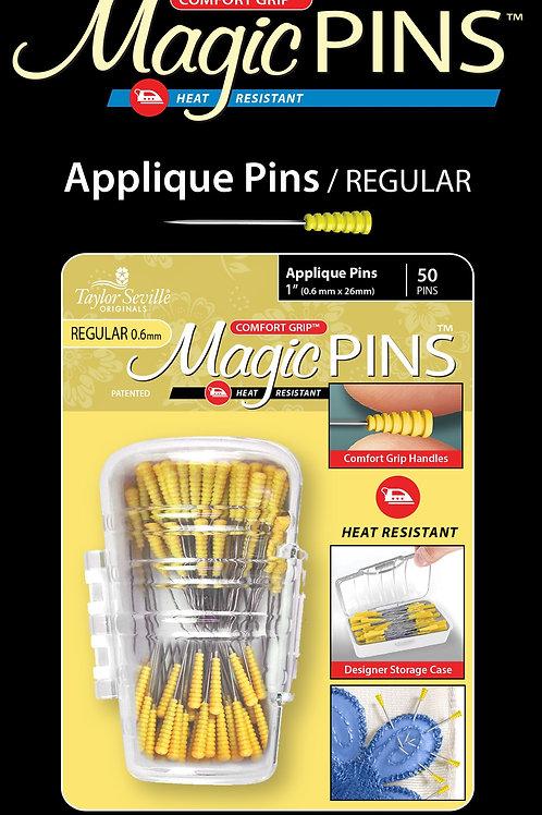Taylor Seville Applique Regular Magic Pins 50pk