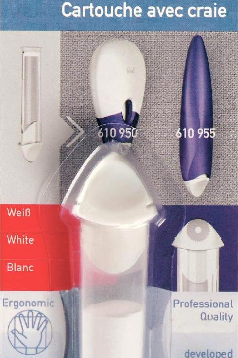 Prym Ergonomic Chalk Cartridge Refill White