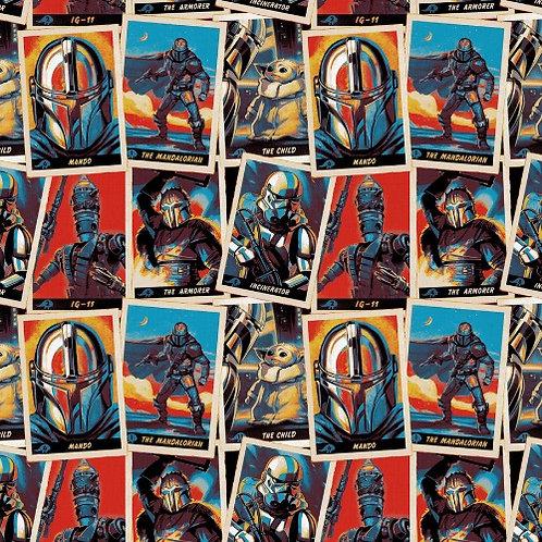 Star Wars Mandalorian Trading Cards Fabric