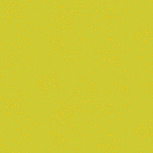 Makower Andover Rainbow Shimmer with Gold Metallic Fabric - Citron