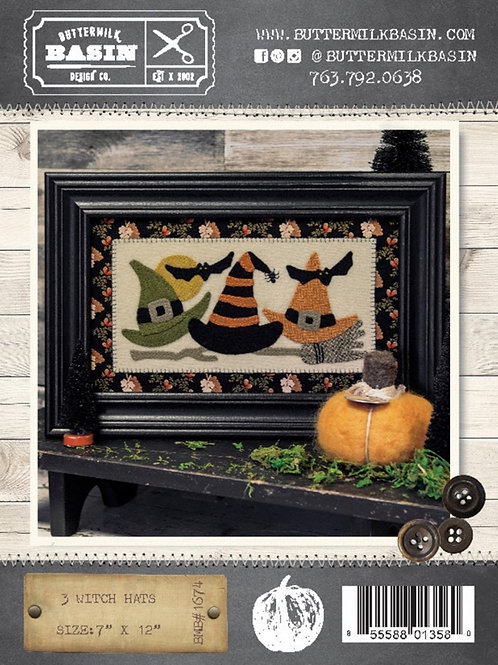 3 Witches Hats Pattern