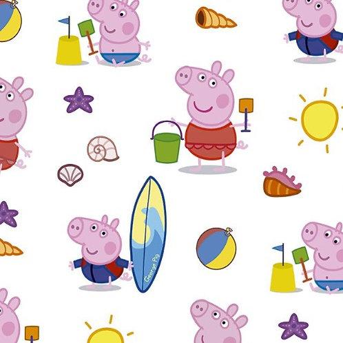Peppa Pig Beach Day Fabric