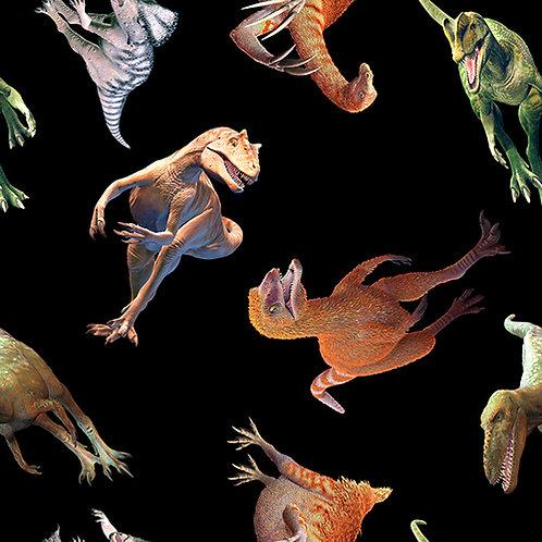 Blank Quilting Tyranno-Chorus Tossed Dinosaur Fabric