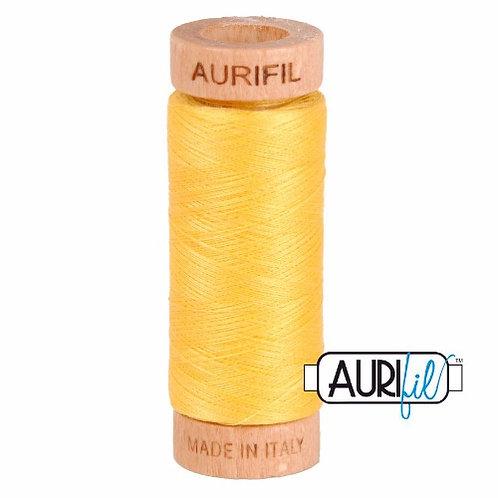 Aurifil 80 280m 1135 Pale Yellow Cotton Thread