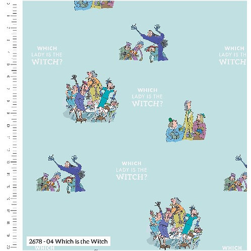 Roald Dahl The Witches Which is the Witch Fabric