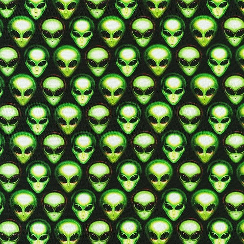 Alien Heads Fabric