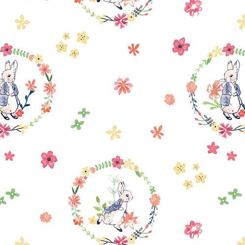 Peter Rabbit Floral Wreath Fabric
