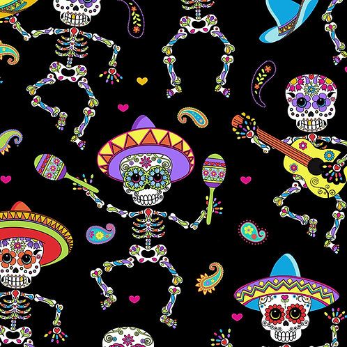 Day Of the Dead halloween Fabric