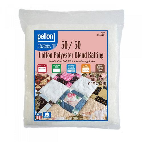 "Pellon 50/50 Cotton Poly Blend Wadding 45"" x 60"" Crib"