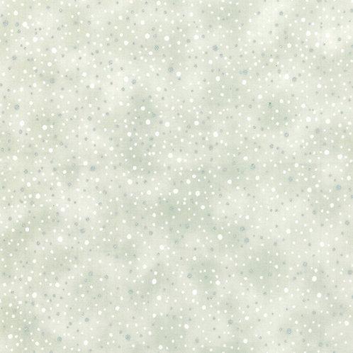 Parchment/Silver Snow Blender Christmas Fabric w/ Metallic
