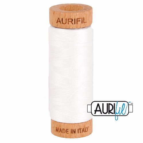 Aurifil 80 280m 2021 Natural White Cotton Thread