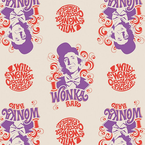 LP Willy Wonka Bar Fabric
