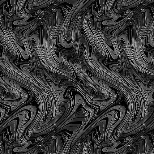 Charcoal Marble Swirl Fabric