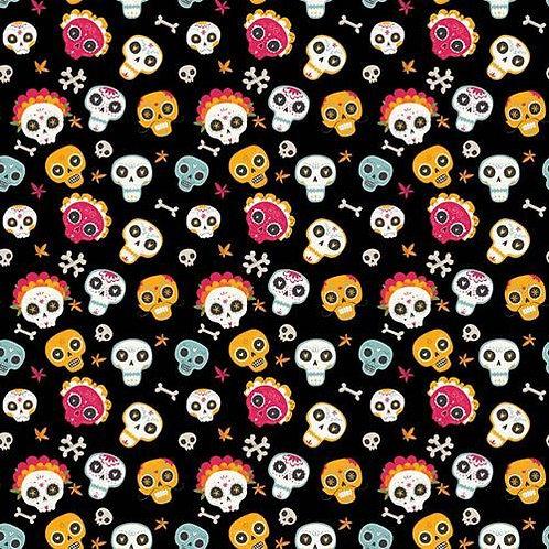 Skulls and Bones Fabric