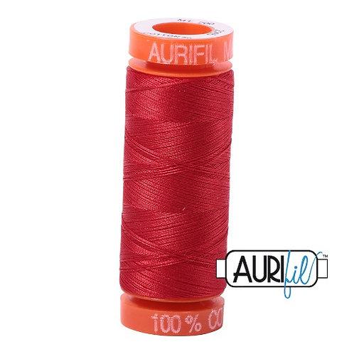 Aurifil 50 200m 2265 Cotton Thread Lobster Red
