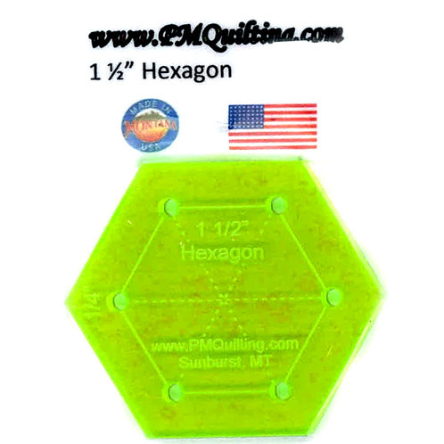 """PM Quilting 1.5"""" Hexagon Template"""