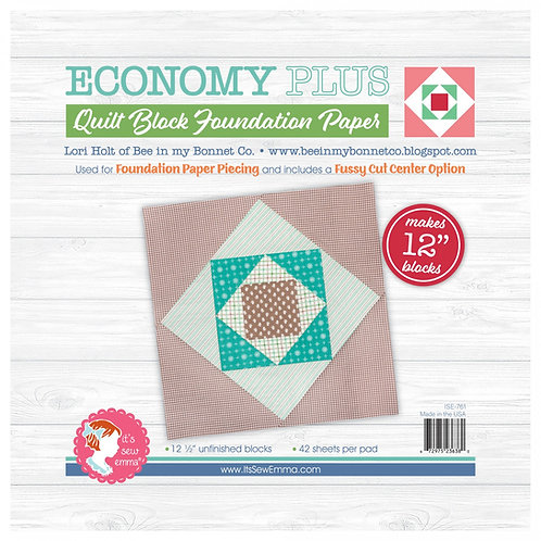 Economy Quilt Block 12in Foundation Paper Pad