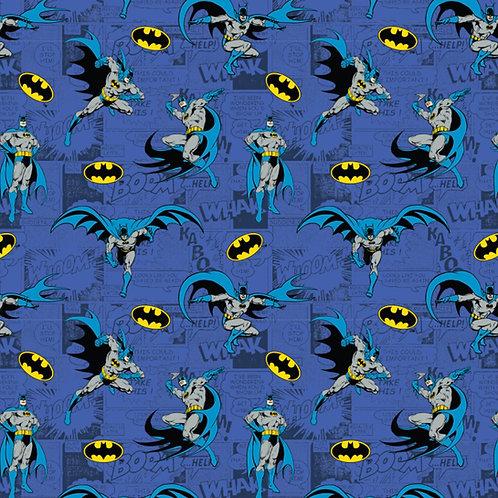DC Batman Comics Blue Fabric