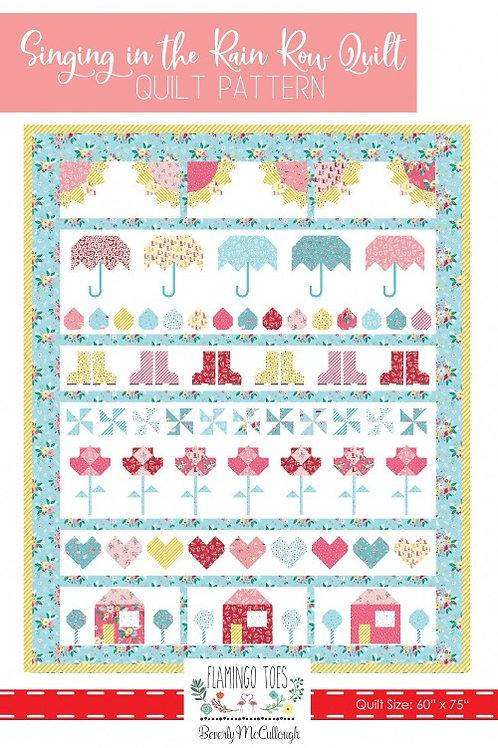 Flamingo Toes Singing In The Rain Quilt Pattern