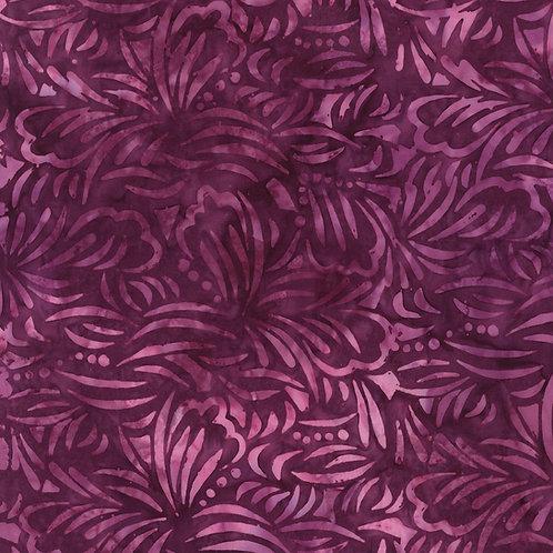 Plum Tonga Batik Dahlia