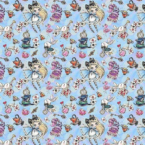 Wonderland Blue Fabric