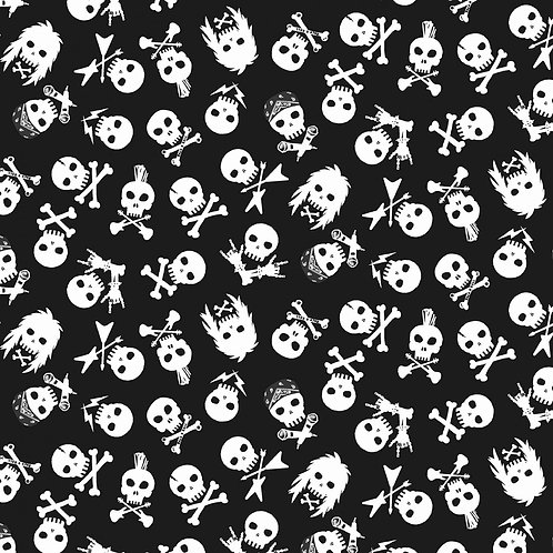 Black Sabbath Rock Skulls Fabric
