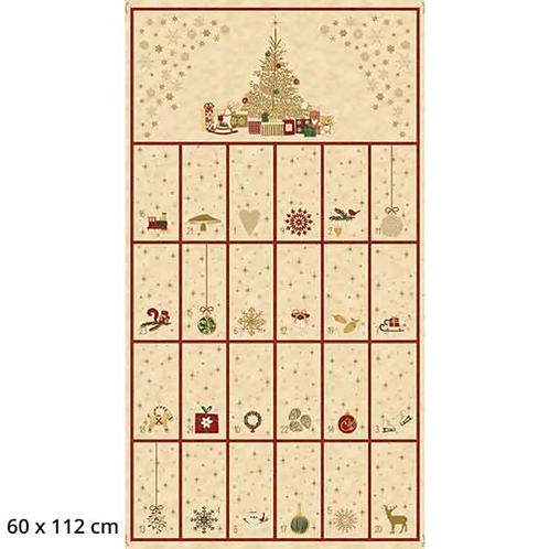 Stof Cream Advent Calendar Christmas is near fabric