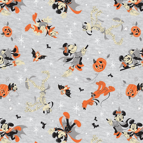 Mickey Mouse Costumed Friends Halloween Fabric