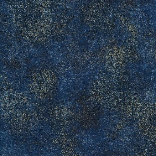 Timeless Treasures Shimmer Navy Metallic Fabric