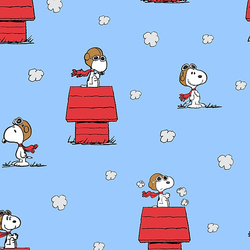 Snoopy Red Baron Toss Fabric
