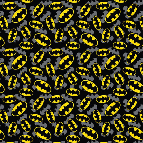 DC Batman Logo Overlay Fabric