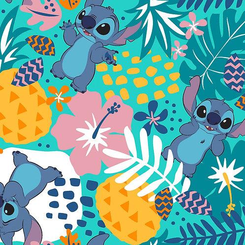 Lilo and Stitch in the Jungle Fabric