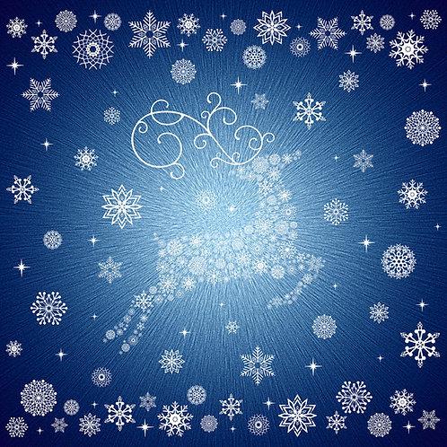 Hoffman Navy Snowflakes Christmas Panel