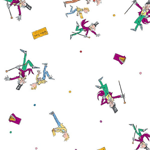 Charlie and the Chocolate Factory Charlie Scene Fabric