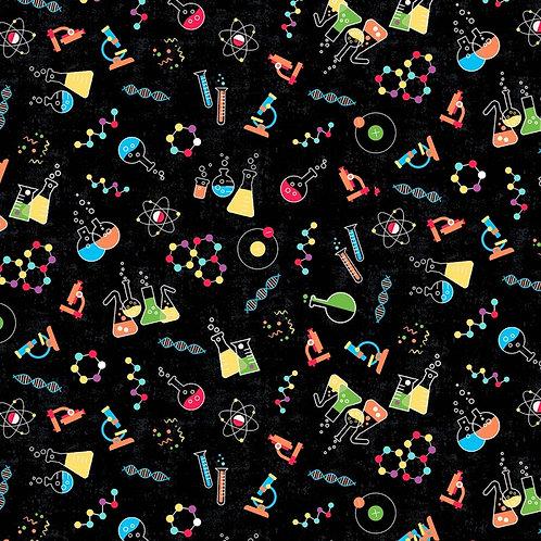 Black Science Lab Fabric