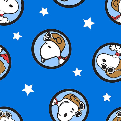 Peanuts Snoopy Badges Fabric