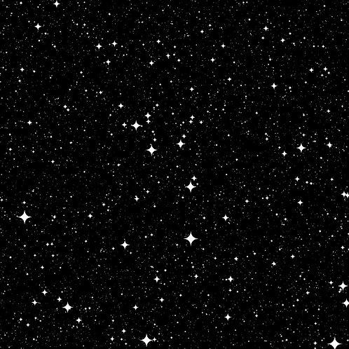Cosmos Black Stars Fabric