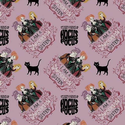 Disney Hocus Pocus Sanderson Sisters Fabric - Mauve