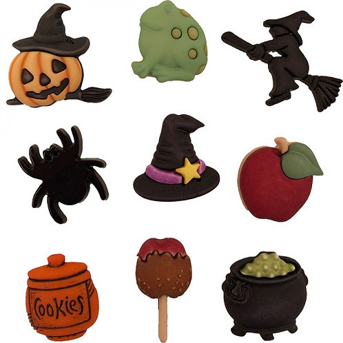 Halloween Witches Kitchen Button Embellishments